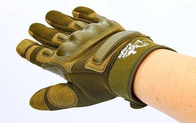 Перчатки тактические с закрытыми пальцами SILVER KNIGHT BC-7052 Оливковый L (MR03997)