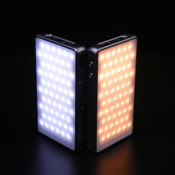Накамерный свет Ulanzi Fotobetter R190 RGB LED с регулятором яркости димируемая светодиодная панель