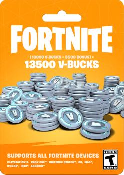 Fortnite: 13500 В-баксів (10000 + 3500 V-BUCKS) | PS4