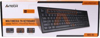 Клавіатура дротова A4Tech KRS-85 USB Black (4711421807784)