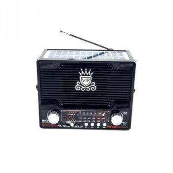 Радіоприймач NS-1556S з сонячною панеллю чорний (46384) TRG-6891