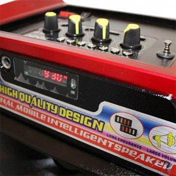 Акустична система NNS валізу комбік Bluetooth колонка підсилювач з мікрофоном Original Червона (1388) TRG-7848