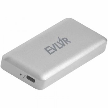 Портативний SSD Patriot EVLVR 512GB Portable Thunderbolt 3 з роз'ясненнями об'ємом Type-C Titanium (PE512GTB3ECSSDR)