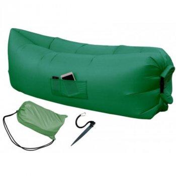 Надувной матрас-диван HPI 2,2 м с сумкой-чехлом Green
