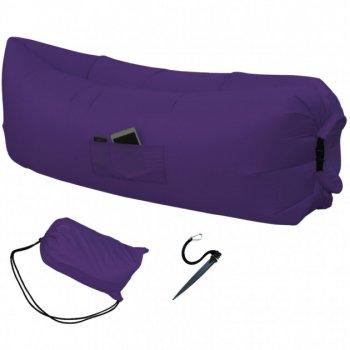 Надувной матрас-диван HPI 2,2 м с сумкой-чехлом Purple