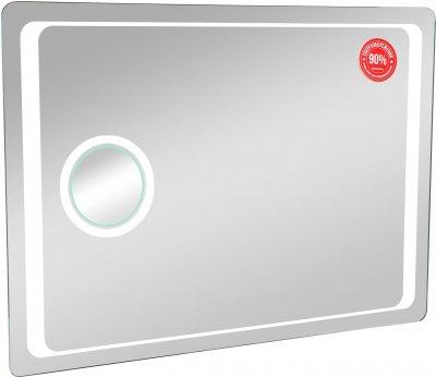 Зеркало AQUA RODOS Омега Люкс 80 см с линзой и LED-подсветкой
