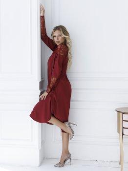 Платье ISSA PLUS SA_16 Бордовое