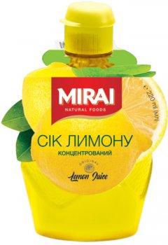 Сок лимона концентрированный Mirai 220 мл (4820178461863)