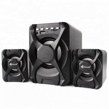 Компьютерные колонки Kisonli U-2500 BT Desktop Speaker 2.1 USB с мощным сабвуфером Black