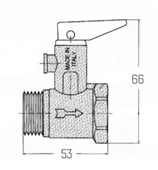 """Запобіжний клапан ICMA для водонагрівача 1/2"""" (91GS09AD06)"""