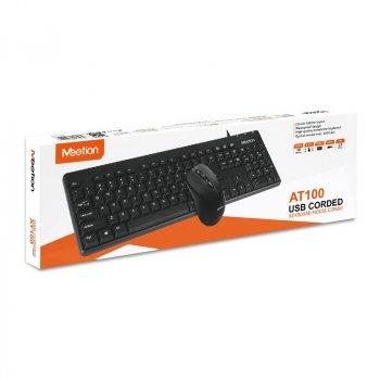 Комплект клавиатура и мышь проводные MEETION 2in1 Keyboard/Mouse USB Corded MT-AT100 RU/EN black