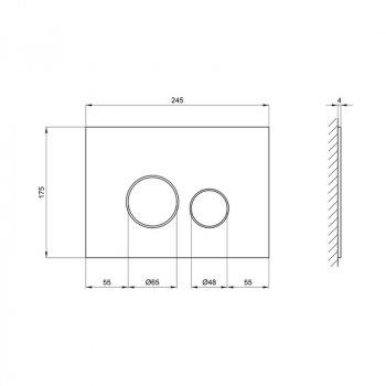 Панель смыва для унитаза Q-tap Nest PL M11GLWHI