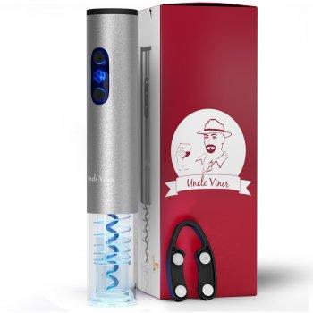 Электроштопор з акумуляторами, USB-шнуром, ножем для фольги Uncle Viner G103 Best seller в США, подарунковий набір