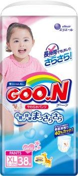 Підгузки-трусики GOO.N для дівчаток 12-20 кг розмір Big XL 114 шт. (853083-3) (4500006493104)