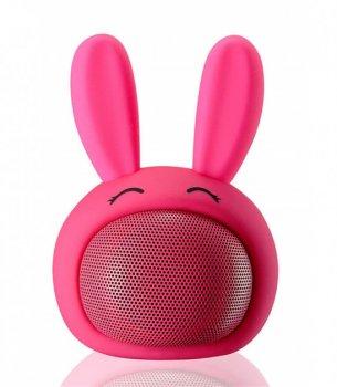Колонка Bluetooth Bambi для дітей Зайчик, рожевий , iCutes (MB-M815)
