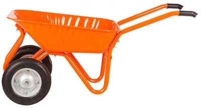 Тачка садовая/строительная 2-колесная Kanat Troyka TRD-481 80 л (150 кг) Orange