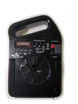 Радіо колонка з програвачем GOLON RX-498BT MP3 ліхтар від сонячної батареї LED лампи PowerBank