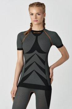 Термофутбол ка женская SPAIO Simple W01 M черный/оранжевый