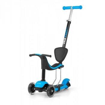 Самокат Milly Mally Scooter Little Star от 2 лет (синий) 3 в 1 светящиеся колеса