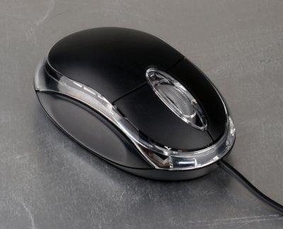 Мышь HQ-Tech HQ-M1 Black USB чорна з червоною LED підсвічуванням 800 dpi