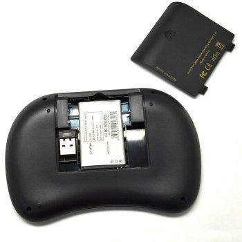 Міні клавіатура, бездротова (для Smart TV/Android) Riitek mini i8 (RT-MWK08 EN) 2.4 G тачпад англійська розкладка