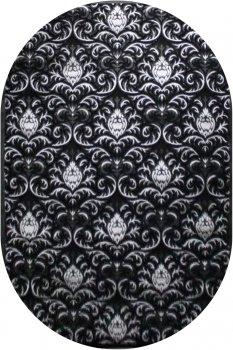 Килим Brilliant HADISE 2819a 0.8x1.5 м. Овал Черный_black/silver