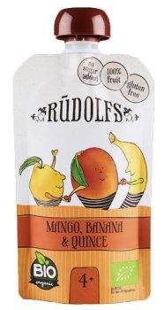 Фруктове органічне пюре Rudolfs Смузі манго, банан та айва 110 г (4751017940907)