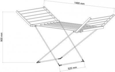 Електрична сушарка для білизни QTAP Breeze 55701 SIL (QTBRESIL55701)