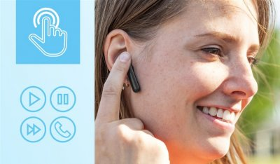 Наушники TRUST Primo Touch True Wireless Mic Black (23712)