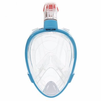 Полнолицевая маска с трубкой для плавания Bestway 24034 SeaClear Vista Snorkeling Mask (Голубой)