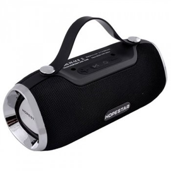 Портативна блютуз колонка Speaker Hopestar H40 WS Pro Чорна 10 ВТ бездротова музична акустика з вологозахистом Bluetooth 4.2 радіо (46999 I)