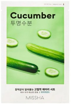 Маска для лица с экстрактом огурца Missha Airy Fit Sheet Mask Cucumber 19 г (8809581454712)
