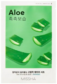Маска для лица с экстрактом алоэ Missha Airy Fit Sheet Mask Aloe 19 г (8809581454743)