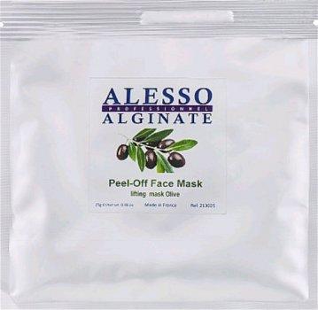 Альгинатная маска для лица Alesso с Оливой лифтинговая омолаживающая, тонизирующая 25 г (3273629213176)
