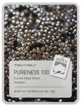 Тканевая маска с экстрактом черной икры Tony Moly Pureness 100 Nutrition Caviar Mask Sheet 21 мл (8806194004396)
