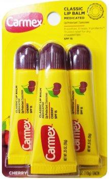 Набір бальзамів для губ Carmex 3-Pack: Carmex 3-Pack: Cherry Tubes SPF 15 10 г (083078009779)