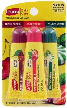 Набор бальзамов для губ Carmex 3-Pack: Tubes (Cherry, Strawberry, Wintergreen) SPF 15 10 г (083078009649)