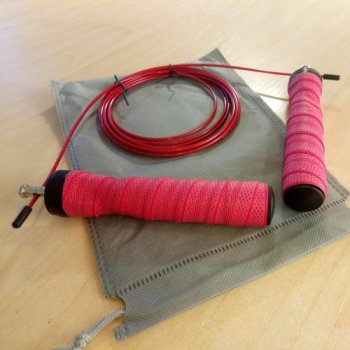 Скакалка швидкісна поліпропіленова Goods4u Pro Червона Jump Rope з підшипником