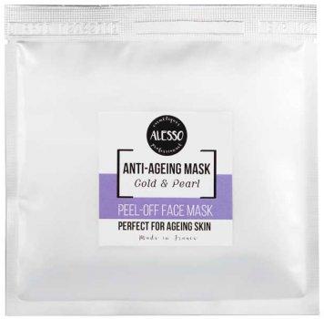 Альгинатная маска для лица Alesso Анти-Эйдж Gold & Pearl омолаживающая 25 г (3273629214173)