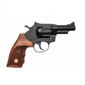 """Револьвер флобера Alfa mod.431 3"""" 4 мм №2. Воронение. Дерево"""