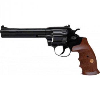 """Револьвер флобера Alfa mod.461 6"""" 4 мм №9. Воронение. Дерево"""