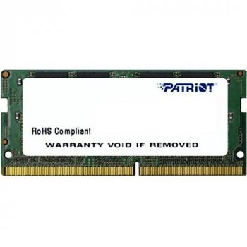 Модуль пам'яті PATRIOT SODIMM 8G DDR4 2400MHz (PSD48G240081S) (F00222148)