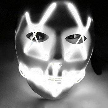 Неоновая маска для вечеринок с подсветкой UFT LED Mask 1 White