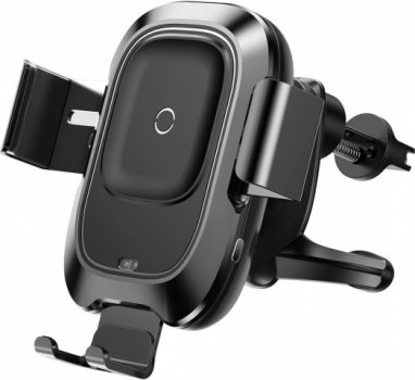 Бездротовий зарядний пристрій Baseus Smart Vehicle Bracket Wireless Charger Black (WXZN-01)