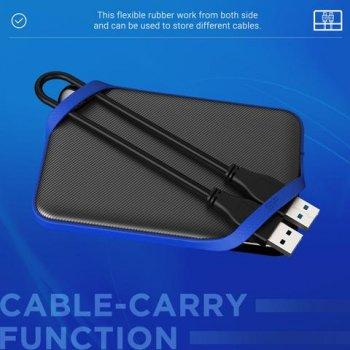 """Жорстку диск зовнішній SiliconPower USB 3.0 Armor A62 2TB 2,5"""" Чорній (SP020TBPHD62SS3B)"""