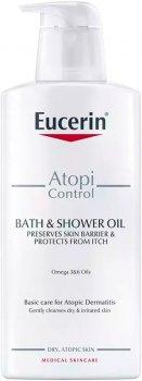 Очисна олія Eucerin AtopiControl для атопічної шкіри тіла 400 мл (4005800213892)
