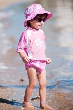 Плавки подгузник Banz Гибискус M розовые