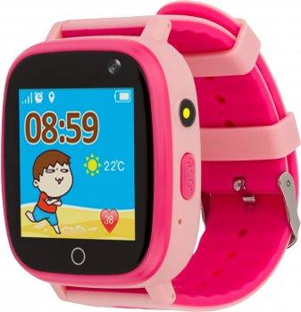 Смарт-годинник дитячий вологозахищений AmiGo GO001 iP67 Pink (458092)