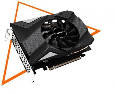 Відеокарта GIGABYTE GeForce GTX1660 Ti 6GB DDR6 192bit DPx3-HDMI MINI ITX (GV-N166TIX-6GD)