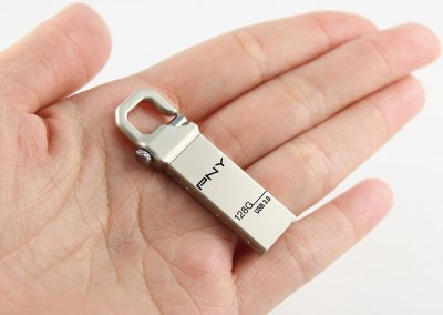 PNY Metal Hook 128GB USB 3.0 Silver(FDU128HOOK30-EF)